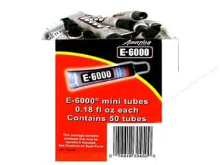 glues, adhesives & tapes: Eclectic E6000 Mini Tubes - .18 oz. 50 pc. (50 pieces)