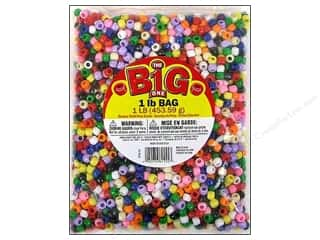 craft & hobbies: Darice Pony Beads 6 x 9 mm 1 lb. Multi Opaque