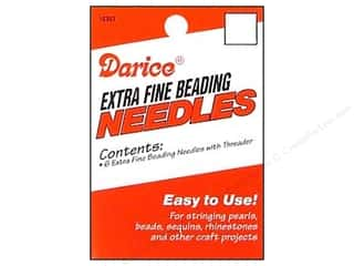 beading & jewelry making supplies: Darice Beading Needles with Threader 6 pc.