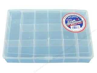 craft & hobbies: Darice Organizer Box 17 Compartment Clear