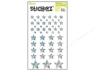 Darice Sticker Silver Stars 52pc