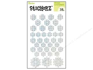 Darice Sticker Snowflake White 38pc