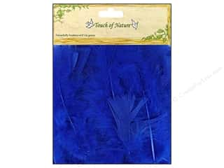 Feathers: Midwest Design Turkey Flat Feathers 14 gm. 4 - 6 in. Blue