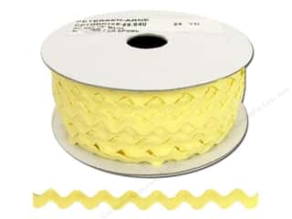 ribbon: Ric Rac by Cheep Trims  1/2 in. Maize (24 yards)