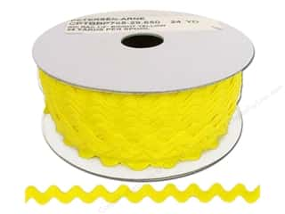 Cheep Trims Ric Rac 1/2 in. Yellow (24 yards)