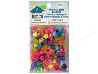 Holiday Gift Ideas Sale Kids Crafts: Sulyn Clubhouse Crafts Bead Mix Hearts/Stars 300pc