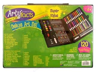Crayons: Darice Arty Facts Portable Art Studio Deluxe Art Set 120 pc.