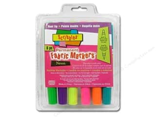 Duncan: Scribbles Fabric Marker Dual Tip Permanent Neon 6pc