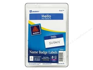 Avery Name Badge Labels 2 11/32 x 3 3/8 in. Blue 100 pc.