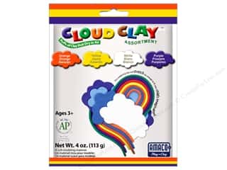 AMACO: AMACO Cloud Clay Assortment #2 Orange, Yellow, Purple and White