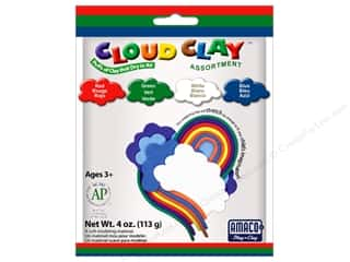 AMACO: AMACO Cloud Clay Assortment #3 Red, Blue, Green and White