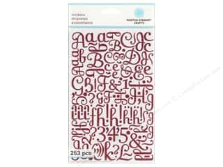 stickers: Martha Stewart Sticker Alphabet Glitter Large Pink