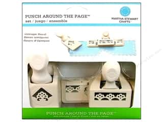 Weekly Specials Fiskars Punches: Martha Stewart Punch Around The Page Set Vintage Floral