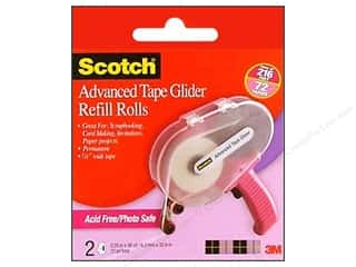 Double-sided Tape: Scotch Advanced Tape Glide 1/4 in. x 36 yd. Refill Acid Free 2 pc.