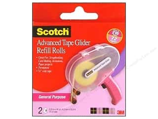 Double Sided Tape: Scotch Advanced Tape Glide 1/4 in. x 36 yd. Refill General Purpose 2 pc.
