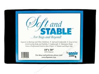 By Annie Soft And Stable Stabilizer 18 x 58 in. Black