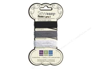 Cotton Way: We R Memory Sew Easy Floss 3 Assorted Grey 26yd