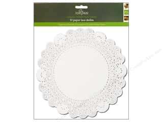 "novelties: Fox Run Craftsmen Paper Doily 10"" Round 12 pc White"
