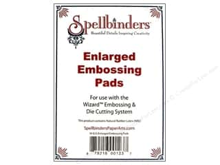 die cuts: Spellbinders Accessories Embossing Pad Enlarged Tan 2pc