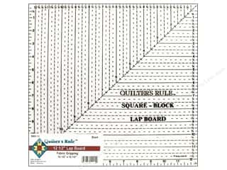 "Quilters Rule: Quilter's Rule Ruler Lap Board Square 12.5"" Black"