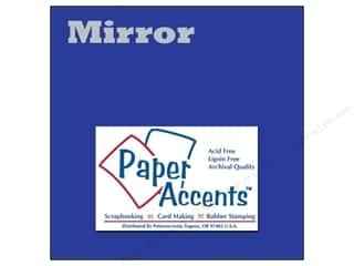 scrapbooking & paper crafts: Cardstock 12 x 12 in. Mirror Blue by Paper Accents (25 sheets)