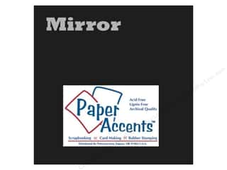 Paper Accents Cardstock: Cardstock 12 x 12 in. Mirror Black by Paper Accents (25 sheets)