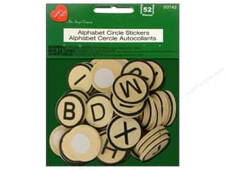 stickers: Lara's Wood Stickers Alphabet Circle 52pc.