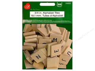 Pre-Painted Wood: Lara's Wood Painted Alphabet Tiles 3/4 in. 60pc. (6 sets)