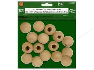 Lara's Wood 1 in. Dowel Cap with 3/8 in. Hole Value Pack 16 pc.