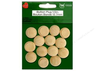 craft & hobbies: Lara's Wood Button Plug 1/2 in. 14 pc.