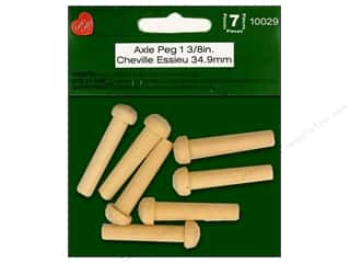 craft & hobbies: Lara's Wood Axle Peg 1 3/8 in.  7 pc.