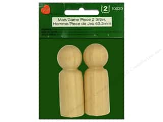 craft & hobbies: Lara's Wood Man / Game Piece 2 3/8 in. 2pc