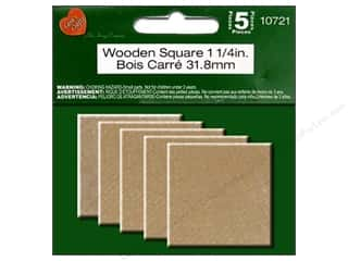 craft & hobbies: Lara's Wood Square 1 1/4 in. 5 pc.