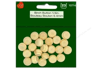 Lara's Wood Birch Buttons 1/4 in. 23 pc.
