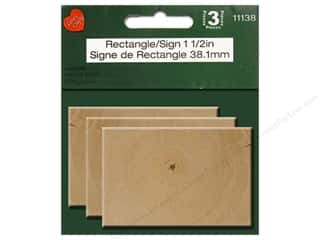 craft & hobbies: Lara's Wood Rectangle 1 1/2 in. 3 pc.