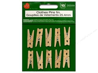 Lara's Wood Clothespins 1 in. 10 pc.