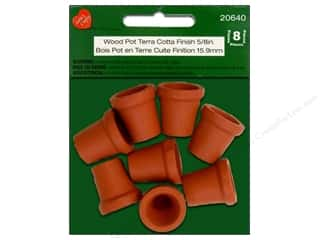 Lara's Wood Pot Terra Cotta Finish 5/8 in. 8pc.
