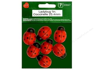 craft & hobbies: Lara's Wood Painted Ladybug 1 in. 7pc.