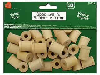 Lara's Wood Spool Value Pack 5/8 in. 33 pc.
