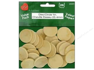 craft & hobbies: Lara's Wood Circle Value Pack 1 in. 26 pc.