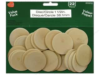 Lara's Wood Circle Value Pack 1 1/2 in. 22 pc.