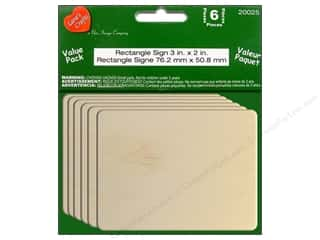 Lara's Wood Rectangle Sign Value Pack 3 x 2 in. 6 pc.