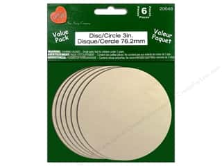craft & hobbies: Lara's Wood Circle Value Pack 3 in. 6 pc.