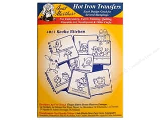 yarn & needlework: Aunt Martha's Hot Iron Transfer #4017 Kooky Kitchen