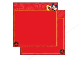 paper red: EK 12 x 12 in. Paper Disney Mickey Red Frame (25 sheets)