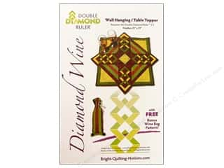 quilting notions: Bright Quilting Notions Diamond Wine Pattern