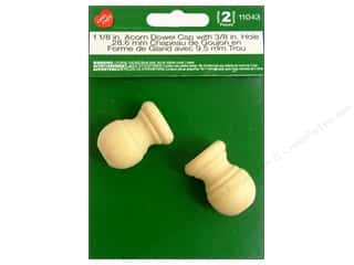 craft & hobbies: Lara's Wood Acorn Dowel Cap 3/8 in. Hole 2 pc.