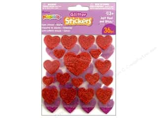 Darice Foamies Stickers Dot/Hearts 36 pc. Glitter