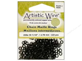jump rings: Artistic Wire Chain Maille Jump Rings 20 ga. 7/64 in. Black 220 pc.