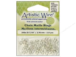 Artistic Wire Chain Maille Jump Rings 20 ga. 7/64 in. Silver 110 pc.